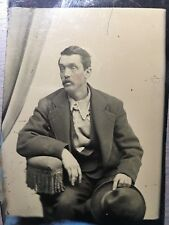 1/6 Plate Tintype Gentlemen Most Special Costume Made Shirt, Hat