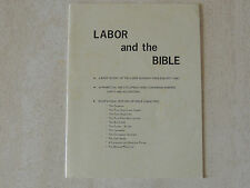 1972 book - LABOR AND THE BIBLE