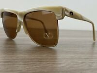Valentino Vintage Sunglasses Marbled Tan And Cream Gold Frames 140 Made In Italy