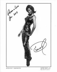 DIONNE WARWICK  Autogramm original signiert Foto 20x25