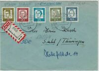 German 1964 Recorded Multiple Cancels &  Stamps Cover ref R 18103