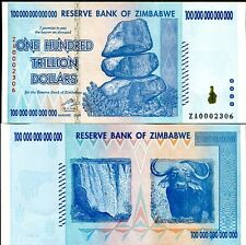 100 TRILLION ZIMBABWE ZA DOLLAR LOW# Replacement MONEY CURRENCY.UNC, 10 20 50.