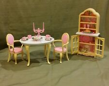 Barbie Dining Room Set 1996 #67551-91 Design for Folding Pretty House!  MINT