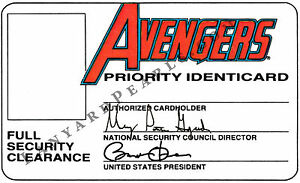 Avengers Custom Novelty PVC ID Card - Great Gift for a cool kid (or adult)