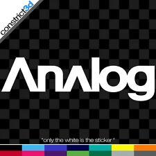 "(2x) ANALOG 6"" VINYL DECALS  * ANY COLOR   snowboard snowboarding anon dc burton"