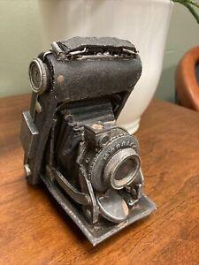 "Vintage Cast Iron Folding Camera Bookend Photography Decor-5""x4.5""x3"""