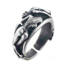 Fashion Punk Stainless Steel Men Woman Erotic Naked Ring Adjustable Jewerly Gift