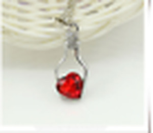 new beautiful Wishing bottle love clavicle chain necklace gift red@