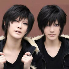 USA Ship Durarara!!x2 Ketsu Izaya Orihara Short Black Straight Cosplay Full Wigs
