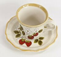Mikasa Strawberry Festival Tea Cup & Saucer Set Pattern EB-801 Made in Japan MCM