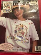 Fashion Art Easter Garden Angel Transfer. 1980's-90's. NEW