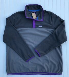 Patagonia Men's Micro D Snap-T Fleece Pullover Forge Grey L XL XXL New