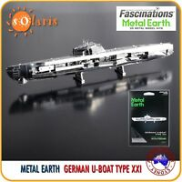 Fascinations Metal Earth GERMAN U-BOAT TYPE XXI 3D Laser Cut Submarine Model Kit