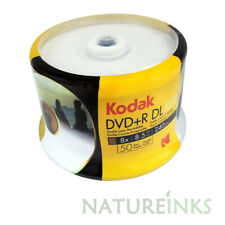 50 Genuine KODAK Blank Printable DVD+R DL Dual Double Layer 8.5GB Disc 8x