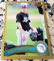 J.T. REALMUTO 2011 Topps GOLD Rookie Card RC SP 22/50 Philadelphia Phillies HOT
