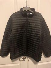 Eddie Bauer Size LARGE Mens MicroLight EB650 Black Packable Light Down Jacket