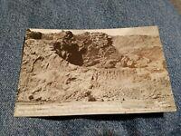 Vintage PHOTO POSTCARD Dinosaur National Monument COLORADO UTAH state line BONES
