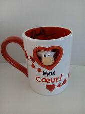 "Neuf mug DOOKIE VACHE ""Mon coeur"" love tasse amour cadeau humour anniversaire"