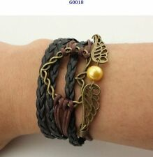 HOT Jewelry Fashion Leather Cute Infinity Charm Bracelet Silver Lots Style Pick