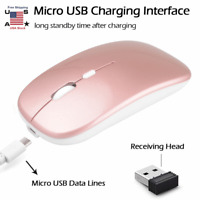 Rechargeable 2.4GHz Wireless Optical Sensor Mouse Mice+USB Receiver fr Laptop PC