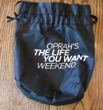 Oprah's The Life You Want Weekend Reusable Drawstring Black Bag Shop Rite New