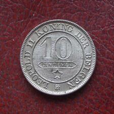 Belgium 1898 copper-nickel 10 centimes