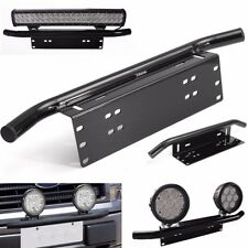 23'' Bull Bar Front Bumper Number License Plate LED Work Light Bracket Holder