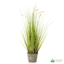 Artificial Fake Plants Wheat Grass in metal Pot 80cm (set of 2)