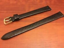 NEW SPEIDEL WATCH BAND BRACELET -  Genuine Lizard 13mm Black