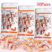 30 Pairs Orange Soft Foam 3M 1100 Disposable Noise Reducer Rebound Ear Plug