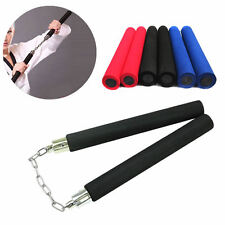 Martial Arts Foam Sponge Padded Karate Stick Training Nunchaku Ninja Nunchuck OK