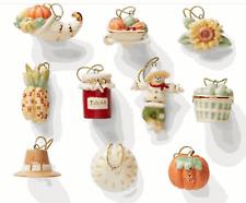 Lenox Autumn Favorites 10-piece Miniature Ornament Set
