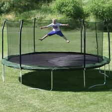 NEW Large 17' x 15' Trampoline Enclosure Spring Pad Oval Safety Play Fun Green