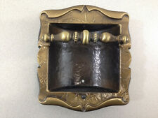 Vintage Amerock Wall Inset  Soap Bar Holder Carriage House Dark Brass Plated