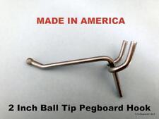 "(1000 Pack) 2 Inch All Metal Peg Hooks 1/8 to 1/4"" Pegboard Slatwall, Garage kit"