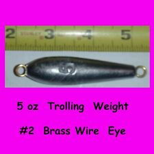 5  -  5 oz  Inline Trolling  lead weight fishing Sinkers