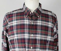 NEW Ralph Lauren L/S Oxford Button Down Shirt MENS XLT XL Tall Red Plaid