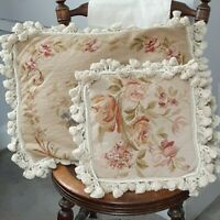 Pair of Beautiful Needlepoint Pillow Covers