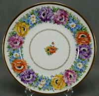 Franziska Hirsch Dresden Hand Painted Floral & Gold 10 3/4 Dinner Inch Plate C