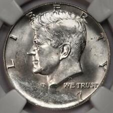 1967 NGC MS62 Struck On Defective Planchet Silver Kennedy Half Dollar Mint Error