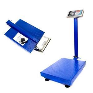 300kg Digital Floor Bench Scale Electronic Platform Shipping Balance 660lb