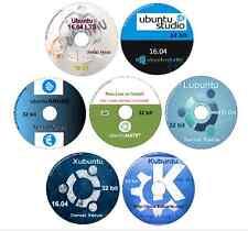 16.04.2 -7 DVDs Ubuntu, Studio, Mate, Gnome, Lubuntu, Kubuntu ,Xubuntu 32 bit