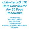 Att Rural Internet Truly  Unlimited 4G LTE Data Hotspot Plan $69.99 a Month