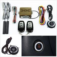 8in1 12V Car Truck Alarm Start System Key Passive Keyless Push Button Remote Kit
