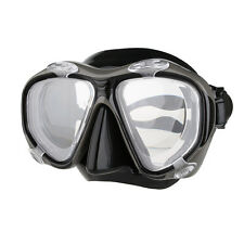 Copozz Optical Myopia Scuba Diving Snorkel Mask Nearsighted -2.0 to -6.0 Black