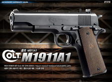 Academy Colt M1911A1 17218 Airsoft Pistol BB Shot Gun 6mm Hand Grips Toy Kids