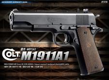 [ACADEMY] Colt M1911A1 17218 Airsoft Pistol BB Shot Gun 6mm Hand Grips Toy Kids