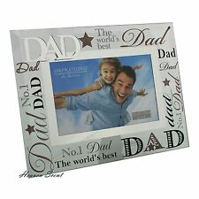 Glass Photo Frame The Worlds Best Dad Fathers Day & Birthday Gift Ideas For Him