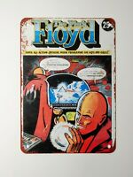Metal Sign - 1975 Pink Floyd Comic Cover UK Tour Vintage Look Reproduction