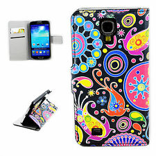 Folding Card Leather Wallet Phone Cover Case For Samsung Galaxy S4 S IV i9500